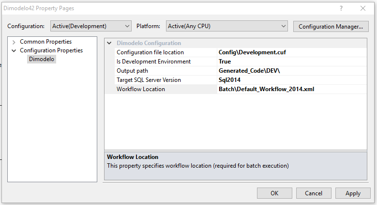 projectConfigurationSQLServer2014