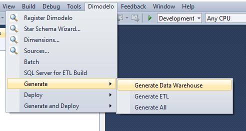Tutorial 1 - Generate - Data Warehouse Automation - Dimodelo